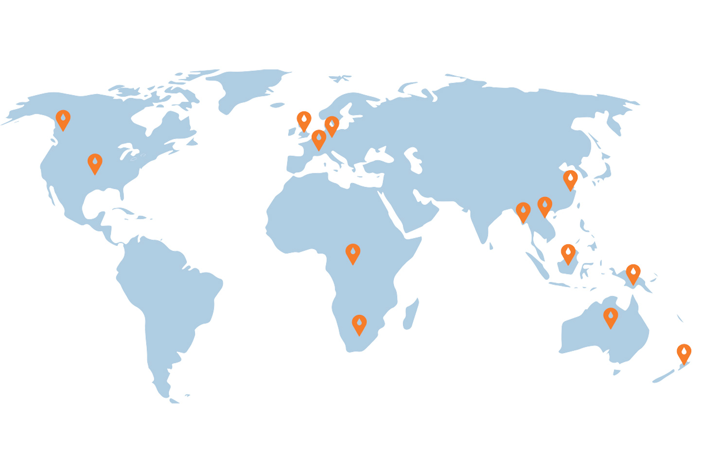 World map showing locations of IMPC attendees